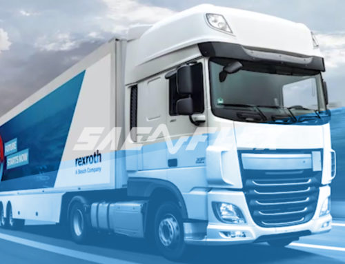 """Connected Hydraulics Truck"" Sae Flex and Bosch Rexroth for the future of hydraulics"